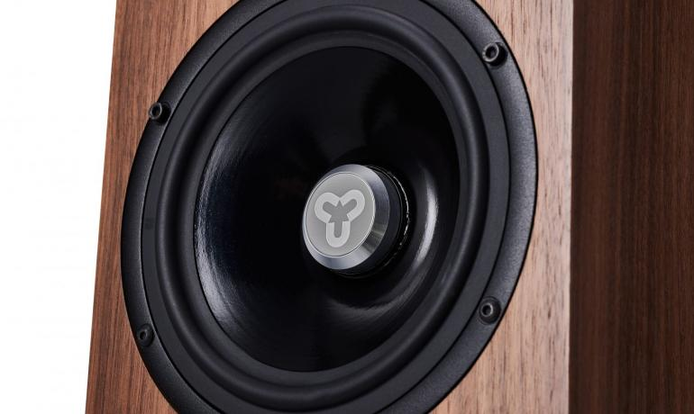 Image shows a close-up of a Cardea speaker