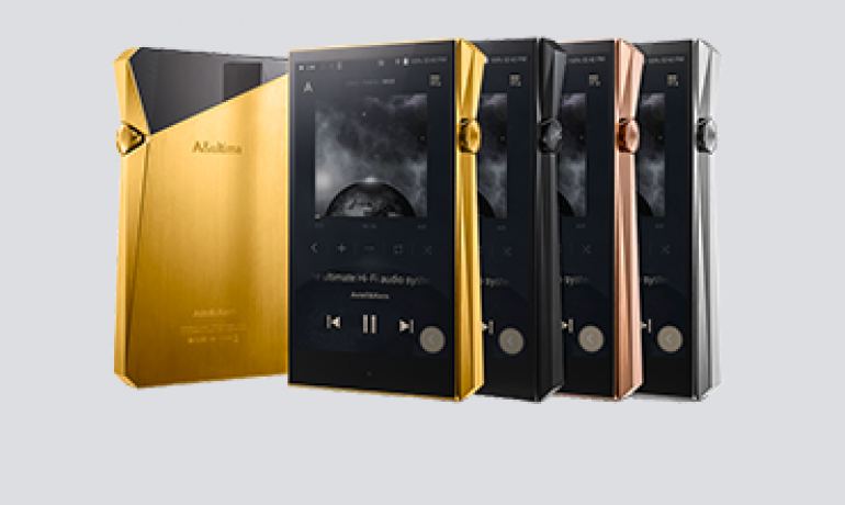 Astell&Kern A&Ultima SP2000 Portable Music Player in a variety of colours on a pale lavender background.