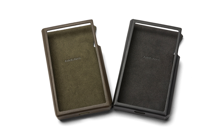 A pair of Astell & Kern SP2000 cases.  One green and one black