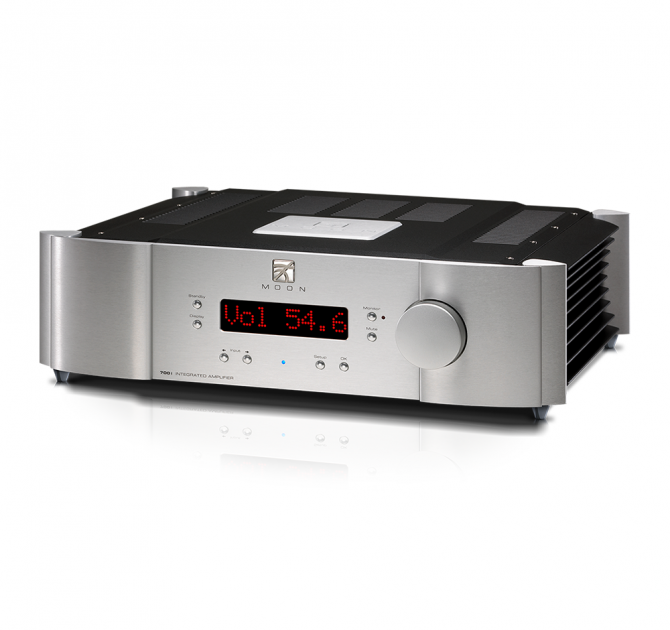 Moon 700i V2 Integrated Amplifier in silver.