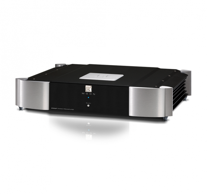 Moon 810LP Phono Preamplifier in black and silver.