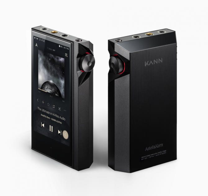 Astell & Kern KANN Alpha front and back view