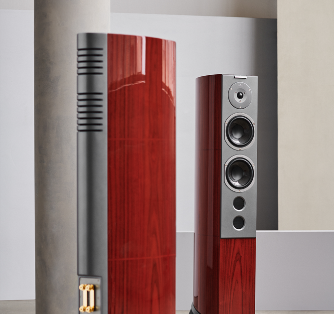 Audiovector R6 Signature pair front and rear view