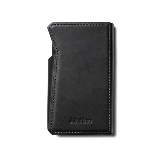 Astell & Kern SP2000 Leather Case in black rear view.