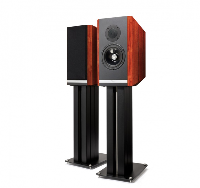 Kudos Titan 505 Speakers with stand in Red Tineo