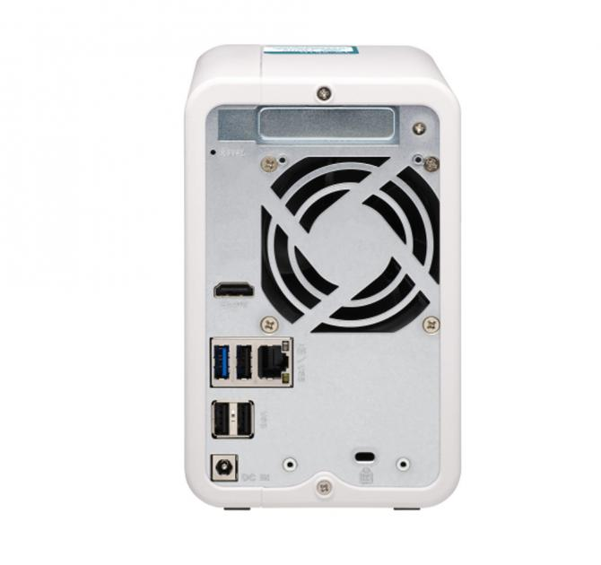 QNAP TS-251D 2-bay NAS rear