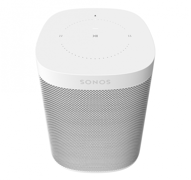 SONOS One White front and top view