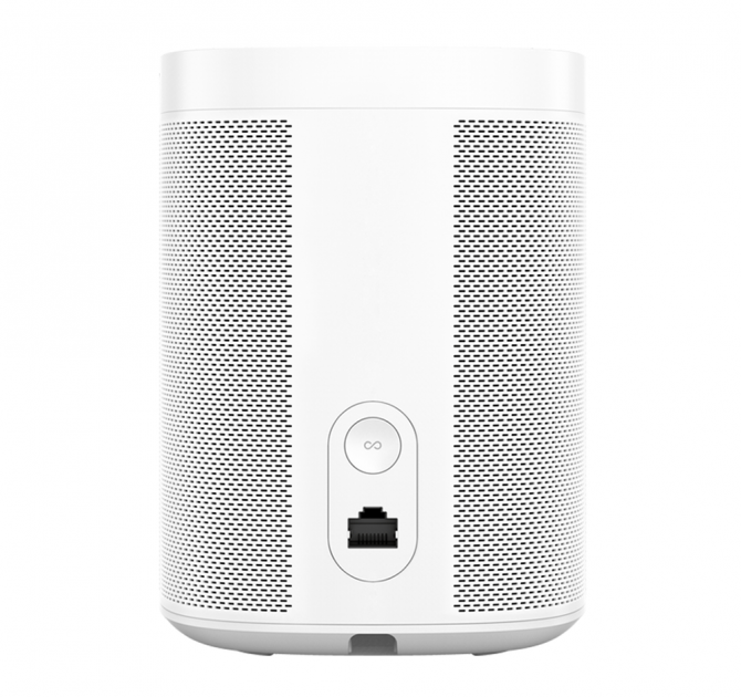 SONOS One White rear view