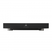 Linn Klimax ExaktBox in black, front view.