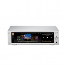 HiFi Rose RS201E Streamer, DAC and amplifier front and top view