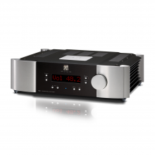Moon 700i V2 Integrated Amplifier in silver and black.