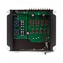 Moon 740P Single Chassis Reference Balanced Preamplifier inside circuitry.