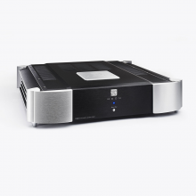 Moon 760A Dual Mono Power Amplifier.  Front, top and side view.