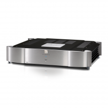 Moon 760A Dual Mono Power Amplifier in silver.