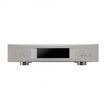 Linn Akurate DSM in silver, front view.
