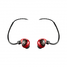 Astell & Kern Billie Jean JH Audio Earphones in red.