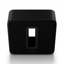 SONOS Sub in black front and top view