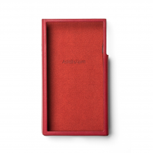 Astell & Kern SE100 Leather Case in red.
