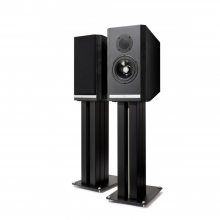 Kudos Titan 505 Speakers with stand in Black Oak