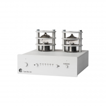 Project Tube Box S2 MM/MC Phono stage in silver, front, side and top view